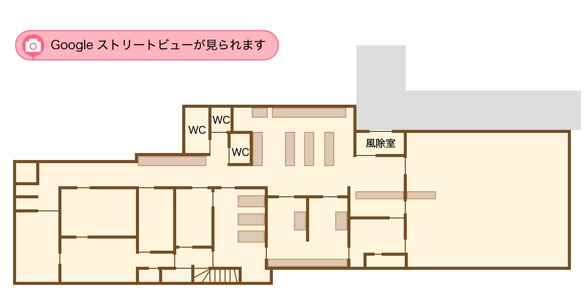 フロアマップのイラスト